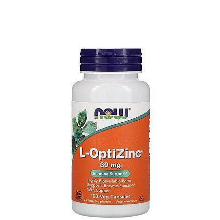 L-OptiZinc, Zinco c/ Cobre 30 mg, 100 Caps NOW FOODS