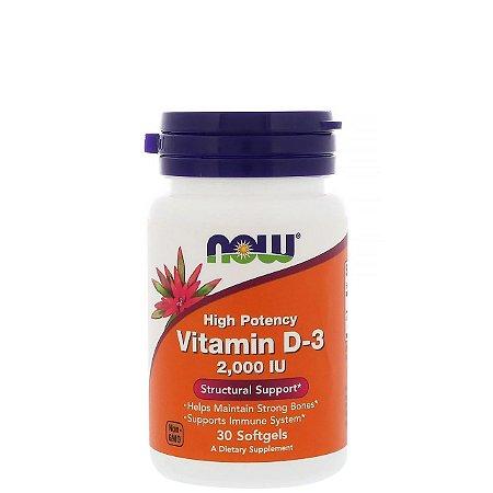 Vitamina D 3 2000UI  30 Softgels - NOW SPORTS
