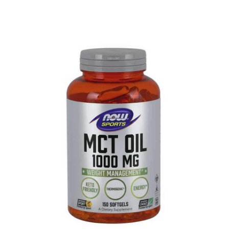 MCT OIL 1000mg 150 SOFTGELS - NOW SPORTS