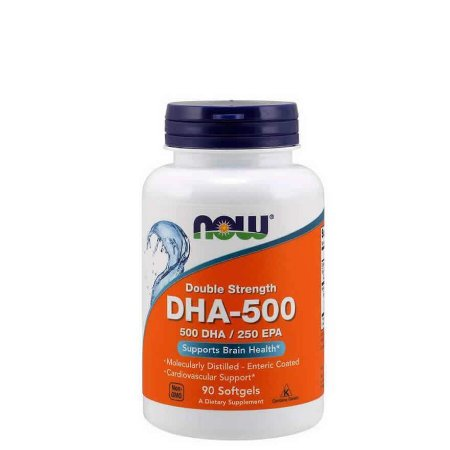 OMEGA 3 DHA-500  90 SOFTGELS - NOW SPORTS - Day Offer