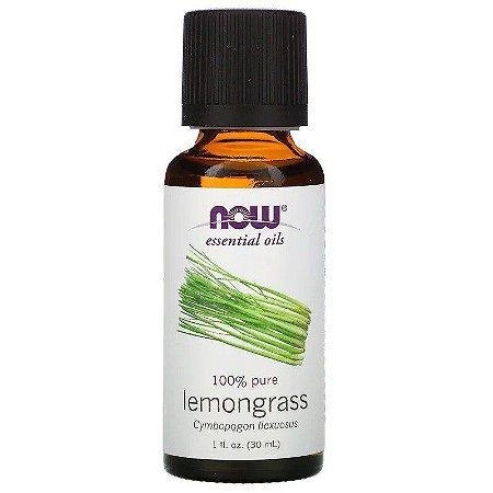 Óleo Essencial Lemongrass (Capim Limão) 30 ml - 100% Puro - NOW FOODS