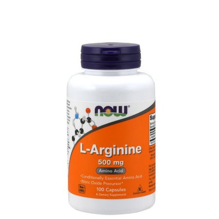 ARGININA 500MG - 100 CAPS - NOW SPORTS - Day Offer