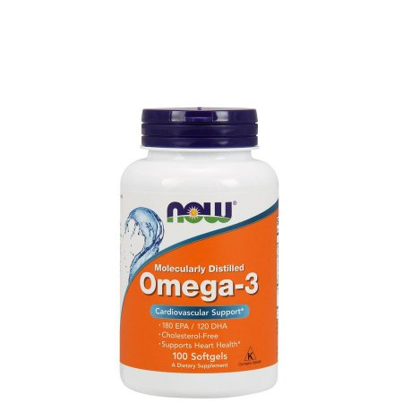 OMEGA-3 1000MG  100 CAPS - NOW SPORTS - Day Offer