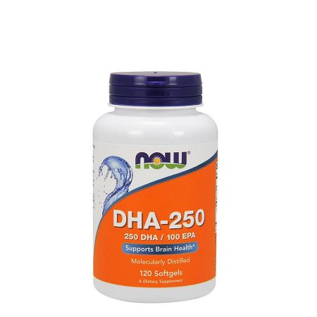 OMEGA DHA-250 120 CAPS - NOW SPORTS - Day Offer