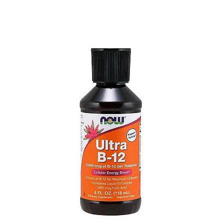 VITAMINA ULTRA B12 5000mcg  118 ml -  NOW SPORTS