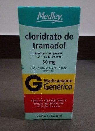 CLORIDRATO DE TRAMADOL 50MG - CAIXA COM 10 CÁPSULAS FABRICANTE: MEDLEY
