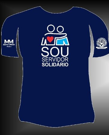 """Camisa """"Sou Servidor Solidário"""" Azul"""