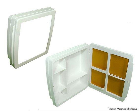 Armário Para Banheiro Plástico Cinza