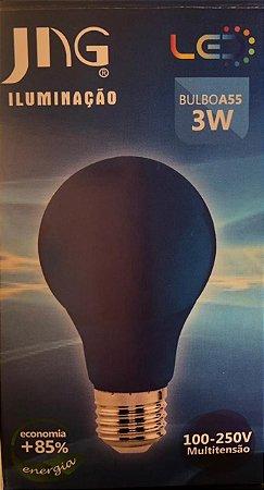 Lampada LED Bolinha 3W E27 100 - 250VCA  Jng Azul