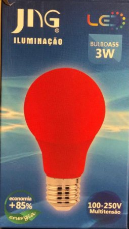 Lampada LED Bolinha 3W E27 100 - 250VCA  Jng Vermelha