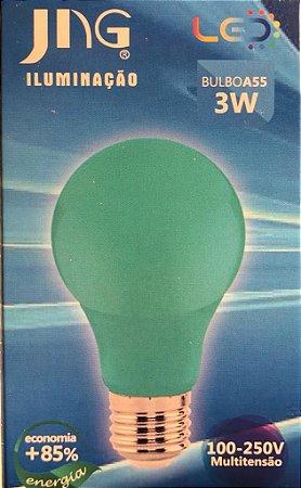 Lampada LED Bolinha 3W E27 100 - 250VCA  Jng Verde