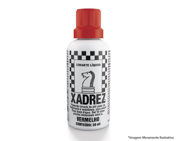 Corante Líquido Xadrez Extra 50ML Vermelho