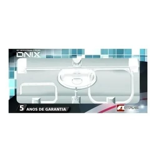Kit Banheiro 5 Peças Cristal  ABS/CR.  Artplas