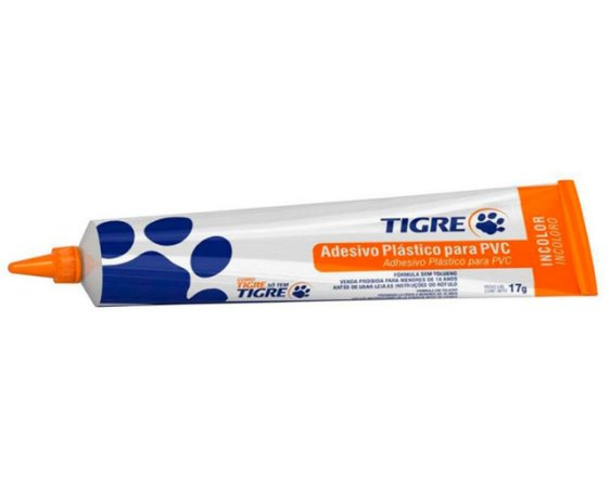 Cola Adesivo Plástico 17G Incolor Tigre