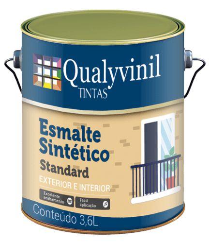 Esmalte Sintético Base Solvente Branco brilhante  Qualyvinil 3,6 l