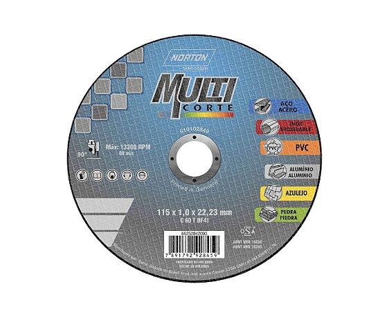 DISCO DE CORTE MULTICORTE 115x1,0x22,23