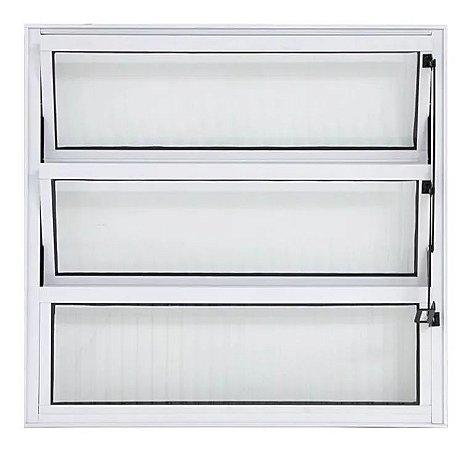 Vitro Alumínio Branco Basculante 80 x 80