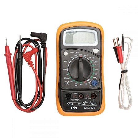 Multímetro Digital Com Sensor De Temperatura  EDA
