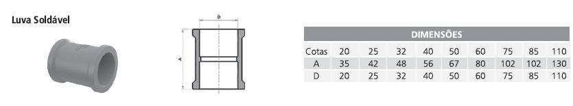 Luva Soldável Tigre 3/4 (25Mm)