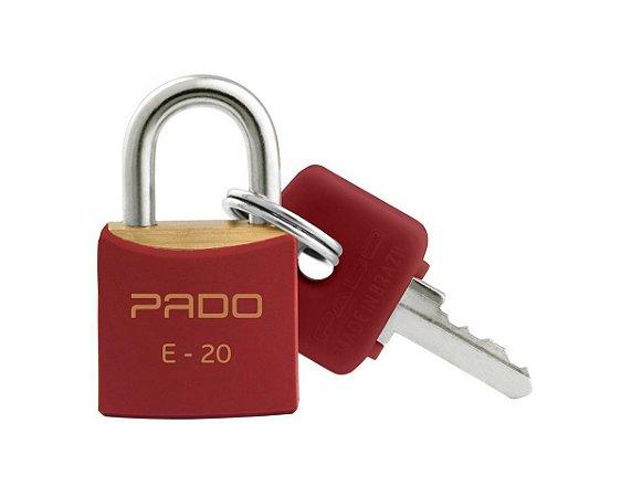 Cadeado Pado 20mm Vermelho