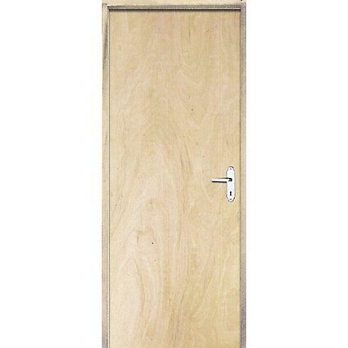 Porta Lisa De Pinos Fechadura Simples 60 X 210 cm  Esquerda