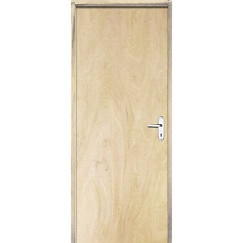 Porta Lisa De Pinos Fechadura Simples  80 X 210 Esquerda