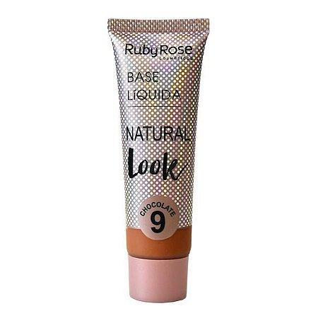 BASE LÍQUIDA NATURAL LOOK CHOCOLATE 9 - RUBY ROSE