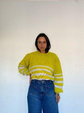 Blusão Amarelo Listras