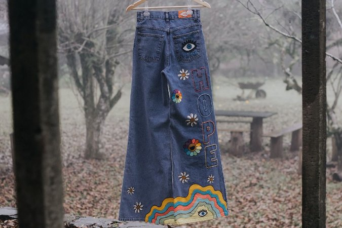 Wide Jeans/ Collab Eufrida