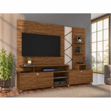 Home Cross 4Pts TV55''  210x47x180  Amêndoa/Branco Lukaliam