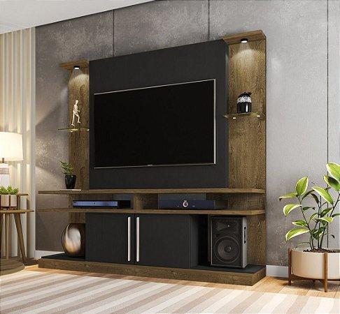 """Home York para Tv Até 60""""  39X180X183 Castanho/Preto Bechara"""