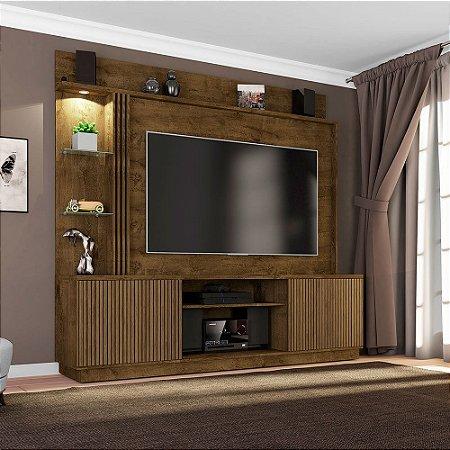 Home Painel Atlanta Tv 65 42x201x188 Castanho Ripado Bechara