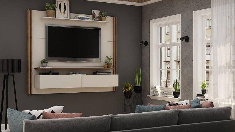 "Painel Home Para TV 65"" Toronto Gelius Off White160x180x37"