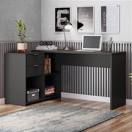 Mesa Office Top NT2060 Notável Preta 75x200x45