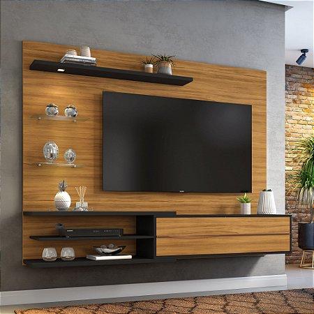 "Painel Para TV 60"" NT1115 Nice Notável Preto 151x180x36"