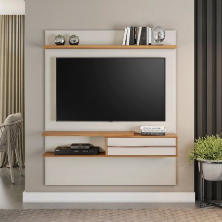 """Painel TV 55"""" NT1155 Coimbra Notável Off White 161x135x30"""