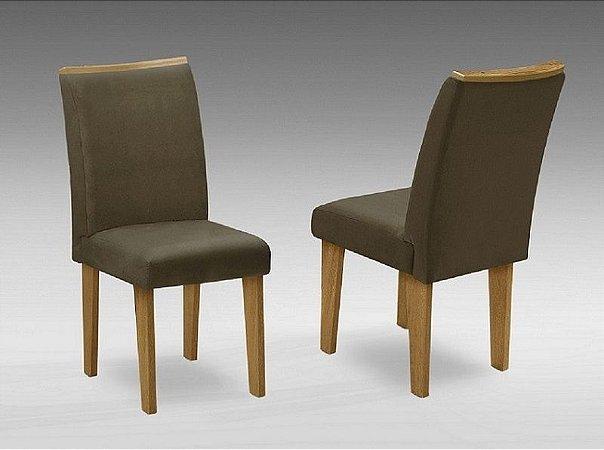 Conjunto 2 Cadeiras Florença Dobuê Mel/Castor 97x42x44