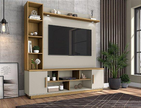 """Home Prestige p/ TV 60"""" Bechara Off White 191x180x45"""