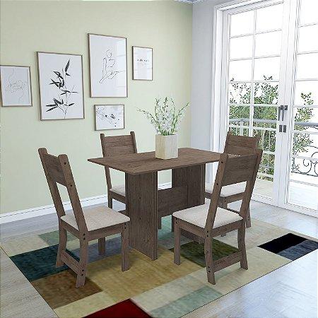 Conjunto Mesa C/ 4 Cadeiras Luiza Indekes Noz 78x68x110
