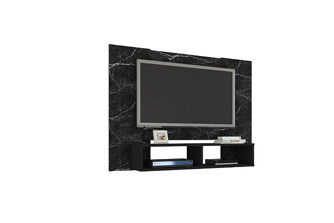 "Painel Para TV 47"" Navi Bechara Nero/Preto Fosco 90x120x28"