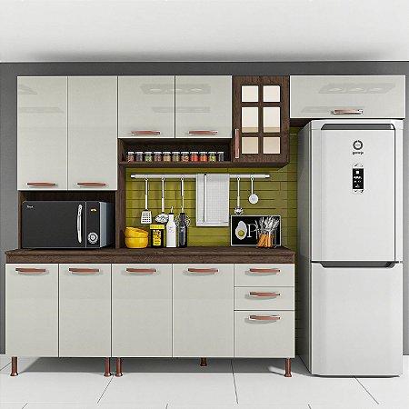 Cozinha Planejada Marie Indekes Off White / Noce 204x270x53