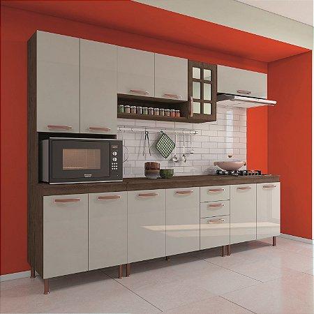 Cozinha Planejada Marie Indekes 5 Peças Noce 204x270x53