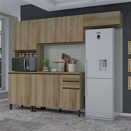 Cozinha Planejada Dinamarca Indekes Castanho 217x270x53
