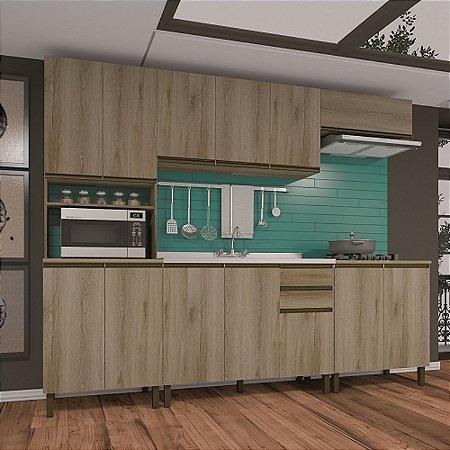 Cozinha Planejada Dinamarca Indekes 5 Pç Castanho 217x270x53