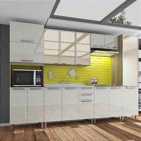 Cozinha Planejada Lis Indekes Off White/Castanho 226x320x53