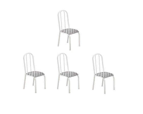 Conj 4 Cadeiras Reg/Chev Ref 078/16 Madmelos Branco 96x39x47