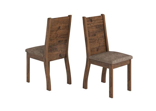 Conjunto 2 Cadeiras Dublin Viero Canela/Castanho 99x40x40