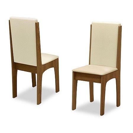 Conjunto 2 Cadeiras Miami Dobuê Canela/Bege 99x44x45