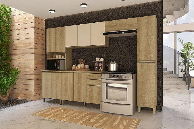 Cozinha Planejada Dinamarca Indekes 5pçs Cast/Off 310x53x217