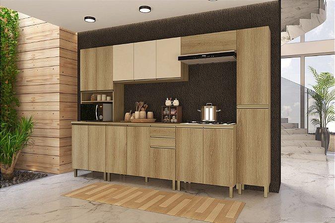 Cozinha Planejada Dinamarca Indekes 6pçs Cast/Off 310x53x217